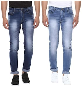 BUKKL Men Mid rise Slim fit Jeans - Multi