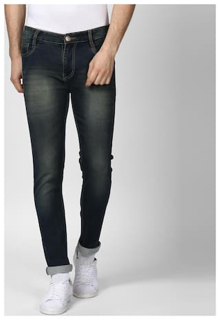 BUKKL Men Blue Slim Fit Jeans