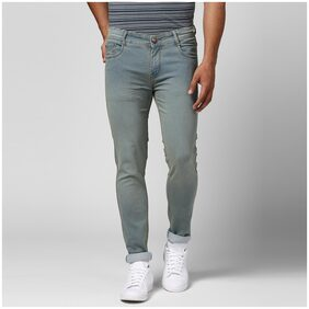 BUKKL Men's Blue Stretchable Slim Fit Jeans