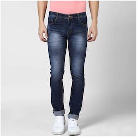 BUKKL Men's Blue Stretchable Slim Fit Jeans