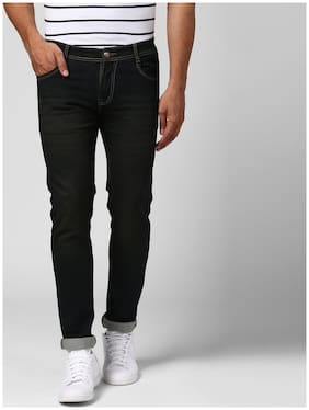 BUKKL Men Low rise Slim fit Jeans - Black