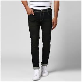 BUKKL Men's Black Stretchable Slim Fit Jeans