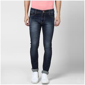 BUKKL Men's Mid Rise Slim Fit Jeans - Blue
