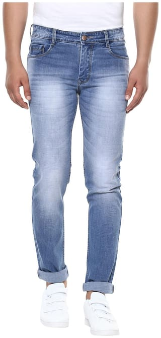 BUKKL Men Mid rise Slim fit Jeans - Blue