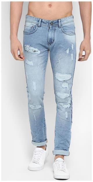 BUKKL Men Blue Slim Fit Jeans