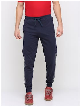 BULLMER Cotton Regular Fit Men Joggers Blue