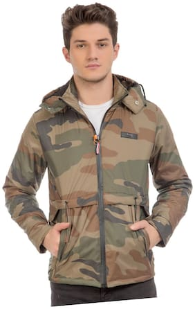Burdy Men Multi Camouflage Biker jacket