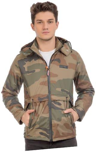Burdy Men Multi Camouflage Biker jacket