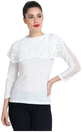 BuyNewTrend Women Solid Regular top - White