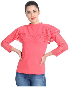Women Solid High Neck Top ,Pack Of 1