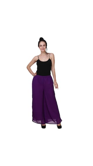 Women Pack 2 For BuyNewTrend Lycra Palazzo of v1qcpf