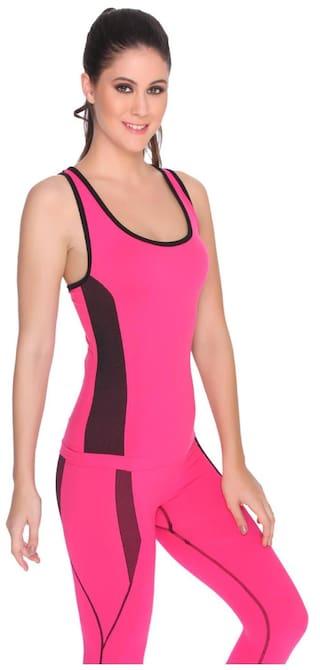 Top Pink Seamless Hot Yoga Tank C9 WPUc6Xw