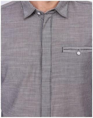 Collar Grey Klein Calvin s Shirt Men Casual Printed Spread BP2v7Jn