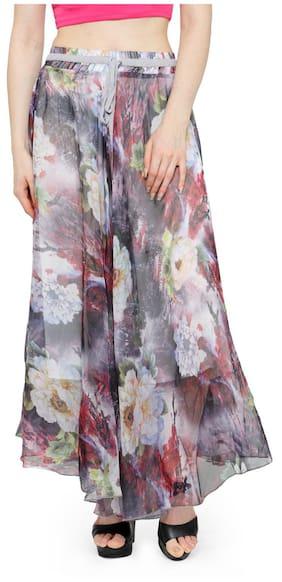 Camey Women Full/ankle Length Blending Maxi Chiffon Long Skirt Beach Skirt