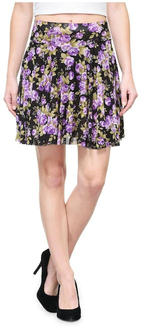 Camey Women Printed Skirt With divider short