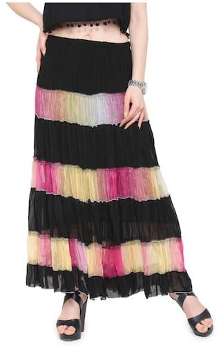 db1ad7a911 Camey Women Full/ankle Length Blending Maxi Chiffon Long Skirt Beach Skirt