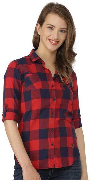 Campus Sutra Women's Checks Shirts