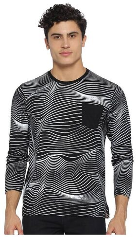 Campus Sutra Men's Wave Designed Full Sleeve Tshirts