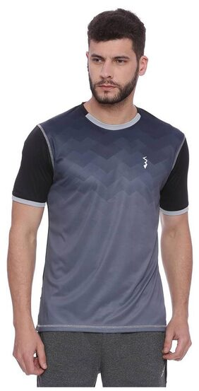 Campus Sutra Men's Dry Fit Spots Jersey T-shirt