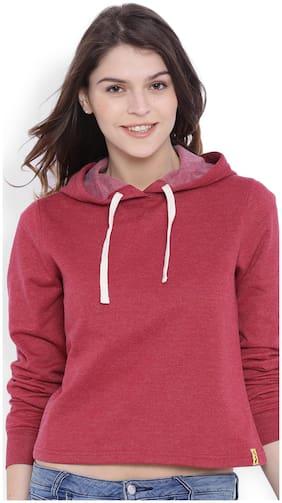 Campus Sutra Women Plain Sweatshirt
