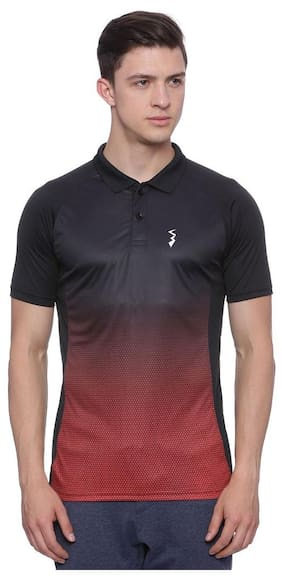 Campus Sutra Men Polo Neck Sports T-Shirt - Multi