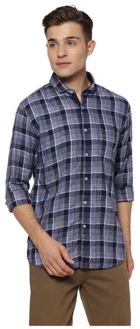 Campus Sutra Men Regular Fit Casual shirt - Blue