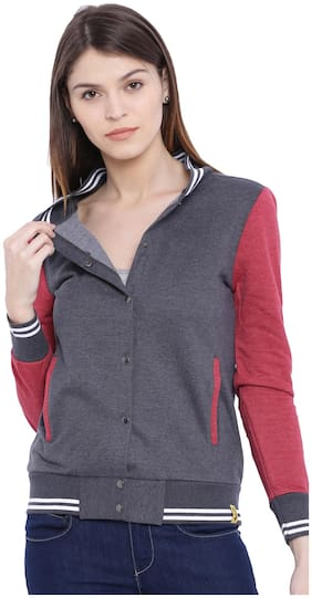 Campus Sutra Women Plain Sweatshirt