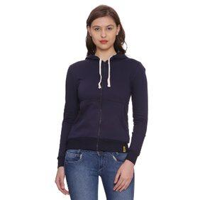 Campus Sutra Women's Zipper Hoodie