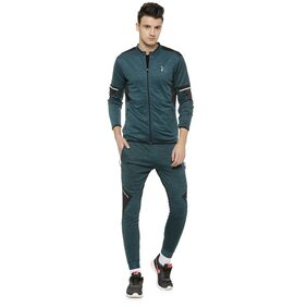 Campus Sutra Men Polyester Track Suit - Green