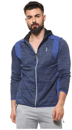 Campus Sutra Men Polyester Jacket - Blue