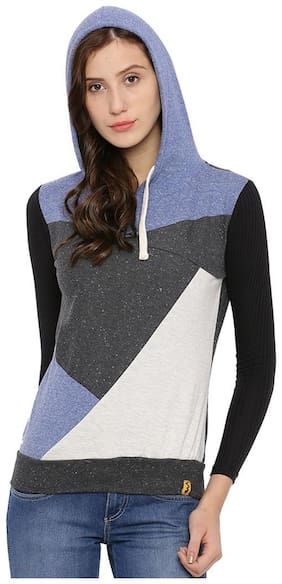 Campus Sutra Full Sleeve Solid Women's Sweatshirt