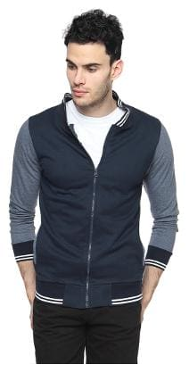 Campus Sutra Men Cotton Hoodie - Blue