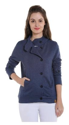 Campus Sutra Women's Plain Jacket
