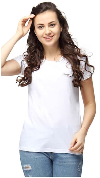 Campus Sutra Women Round Neck T-Shirt