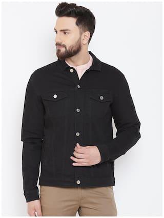 CANARY LONDON Men Black Solid Denim jacket