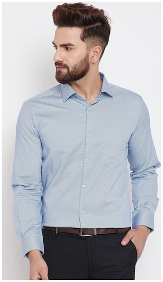 CANARY LONDON Men Slim fit Formal Shirt - Turquoise