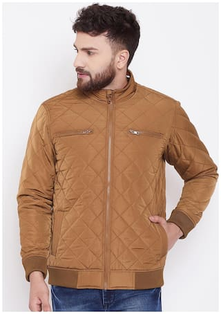 CANARY LONDON Men Brown Solid Quilted jacket