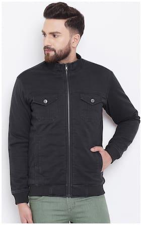 Men Cotton Blend Long Sleeves Bomber Jacket