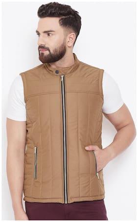 Men Nylon Sleeveless Quilted Jacket