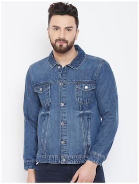 Men Denim Long Sleeves Denim Jacket