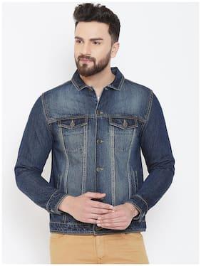 Men Denim Long Sleeves Denim Jacket