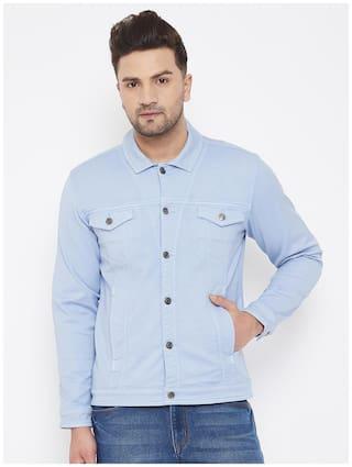 CANARY LONDON Men Blue Solid Denim jacket