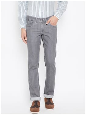 Canary London Grey Washed Slim Fit Lycra Jeans