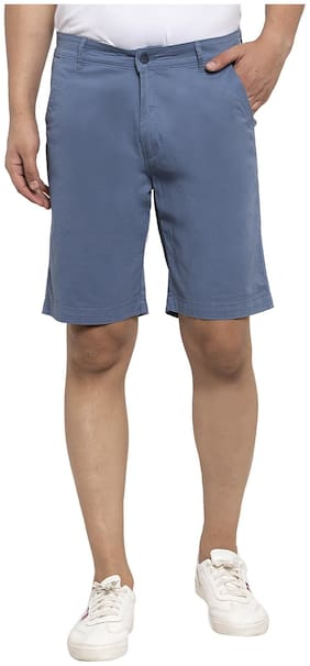 Cantabil Men Blue Regular Fit Regular Shorts