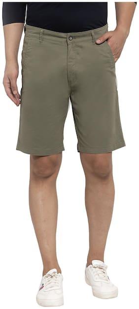Cantabil Men Green Regular Fit Regular Shorts