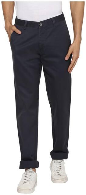 Cantabil Men Grey Solid Regular fit Regular trousers