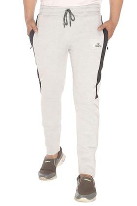 Caracas Men Grey Solid Regular fit Track pants