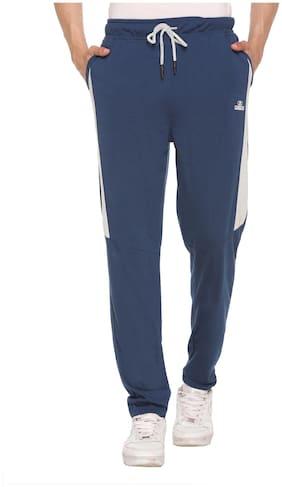 Caracas Men Blue Solid Regular fit Track pants