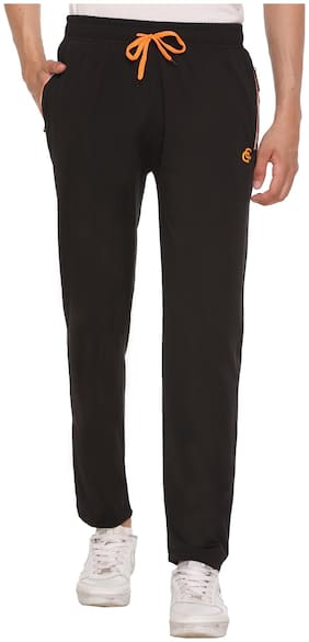 Caracas Men Black Solid Regular fit Track pants