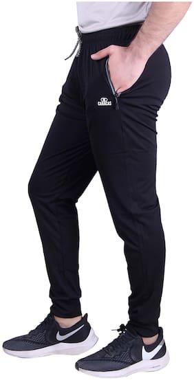 Caracas Men Black Solid Regular fit Track pants